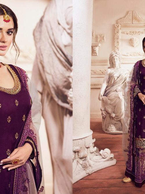 Satin Georgette With Embroidery Party Wear Suit D.No 4901
