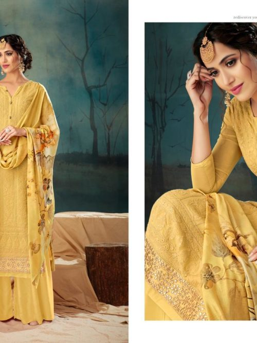 Georgette With Lucknavi Embroidery Suit D.No 2005