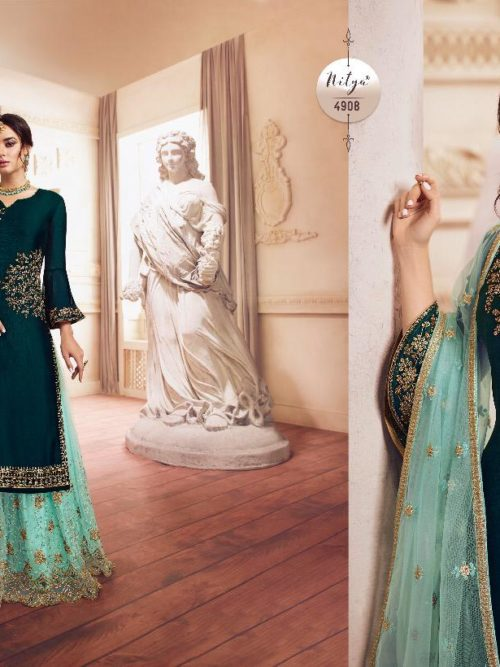 Georgette With Embroidery Party Wear Suit D.No 4907
