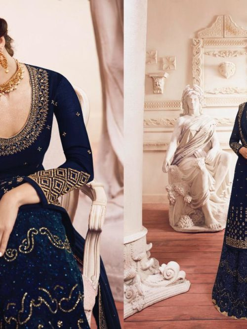 Georgette With Embroidery Party Wear Suit D.No 4904
