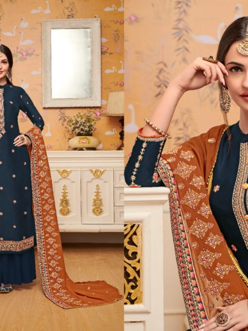 Viscose Upadda With Embroidery Work Suit D.No 1128