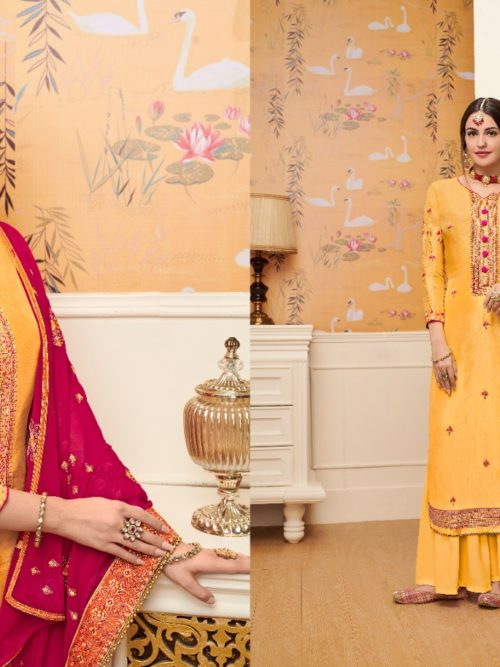 Viscose Upadda With Embroidery Work Suit D.No 1130