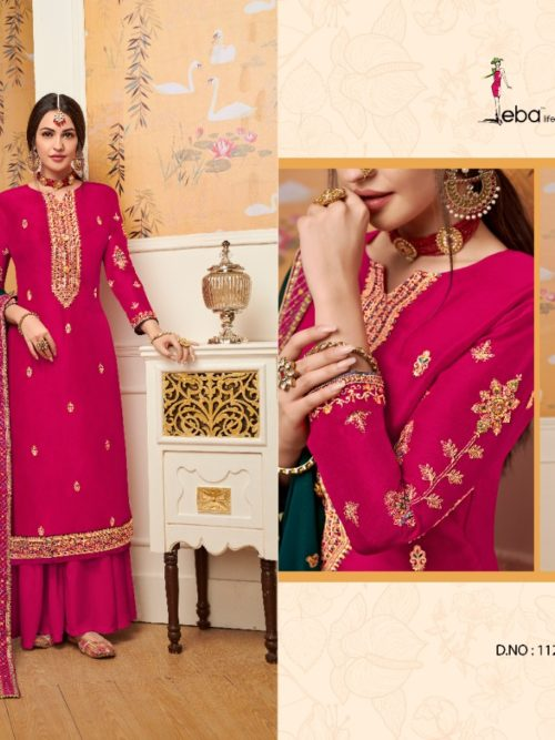 Viscose Upadda With Embroidery Work Suit D.No 1125