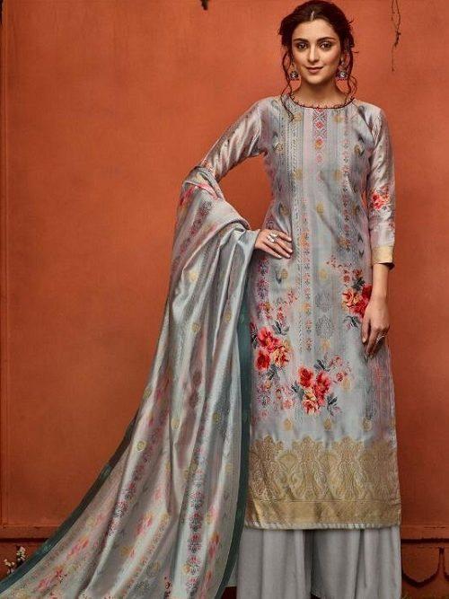 Belliza-Designer-Studio-Presents-Nayaab-Pure-Upada-Silk-Banarsi-Jacquard-Digital-Printed-Salwar-Suit-356-009