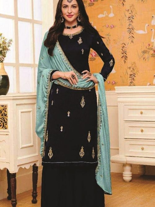 Eba-Lifestyle-Hurma-Satin-Georgette-With-Embroidedry-And-Diamond-Work-Salwar-suit-1131