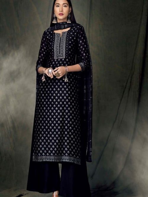 Ganga-Presents-Bidri-Pure-Kasuri-Silk-Printed-Salwar-Suit-Collection-8422
