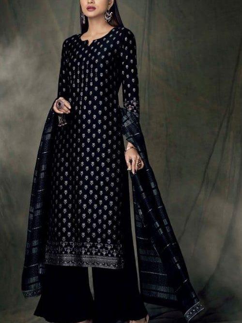 Ganga-Presents-Bidri-Pure-Kasuri-Silk-Printed-Salwar-Suit-Collection-8423