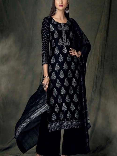 Ganga-Presents-Bidri-Pure-Kasuri-Silk-Printed-Salwar-Suit-Collection-8424