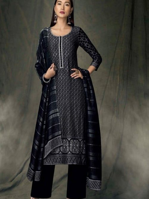 Ganga-Presents-Bidri-Pure-Kasuri-Silk-Printed-Salwar-Suit-Collection-8425