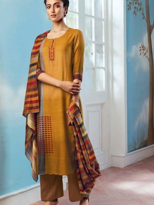 Ganga-Wing-of-a-Cloud-Pure-Bemberg-Silk-Printed-With-Extra-Sleeves-And-Embroidery-Work-Salwar-Suit-c0049