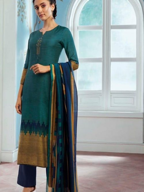 Ganga-Wing-of-a-Cloud-Pure-Bemberg-Silk-Printed-With-Extra-Sleeves-And-Embroidery-Work-Salwar-Suit-c0050