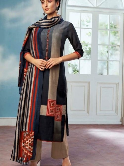 Ganga-Wing-of-a-Cloud-Pure-Bemberg-Silk-Printed-With-Extra-Sleeves-And-Embroidery-Work-Salwar-Suit-c0051