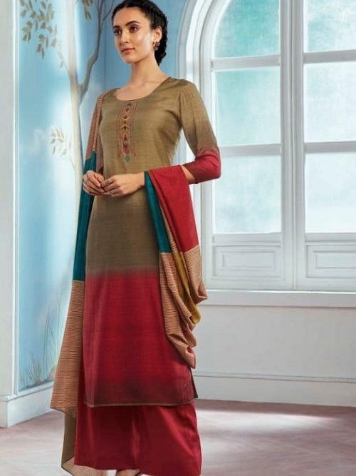 Ganga-Wing-of-a-Cloud-Pure-Bemberg-Silk-Printed-With-Extra-Sleeves-And-Embroidery-Work-Salwar-Suit-c0052
