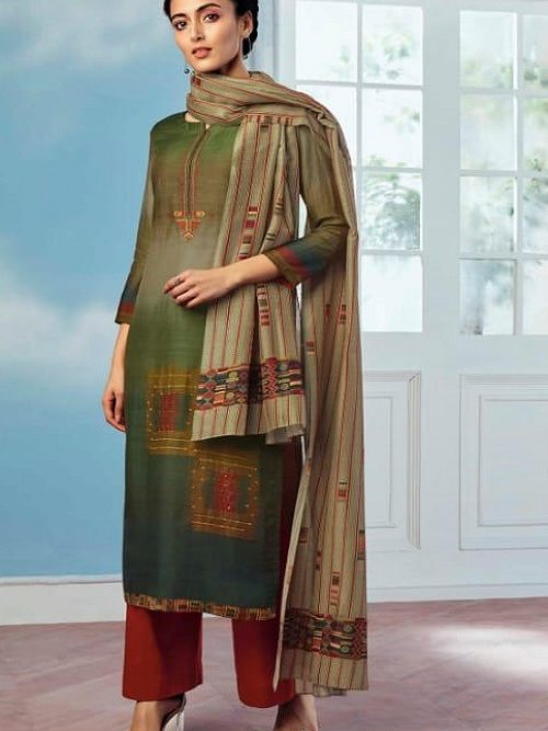 Ganga-Wing-of-a-Cloud-Pure-Bemberg-Silk-Printed-With-Extra-Sleeves-And-Embroidery-Work-Salwar-Suit-coo53