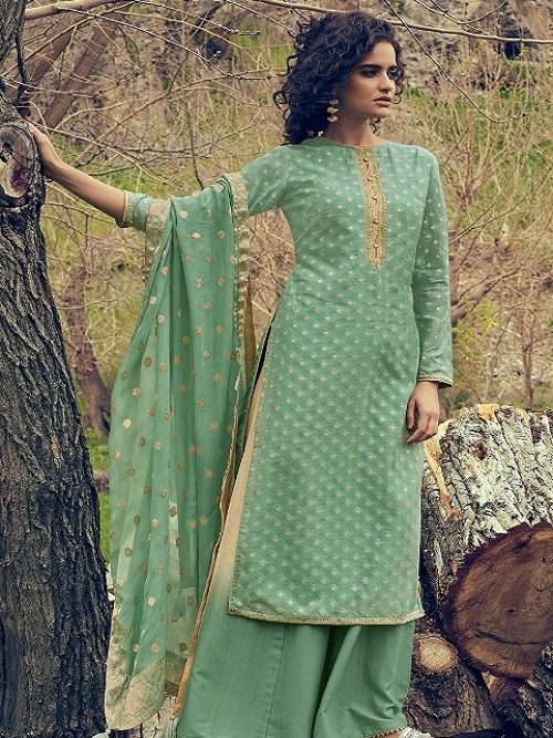 Varsha-Fashion-Maithili-Banarasi-Weave-Self-Fabric-With-Lining-and-Embroidery-Salwar-suit-MH-46
