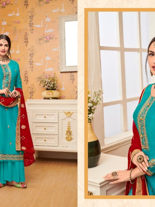 Viscose Upadda With Embroidery Work Suit D.No 1127