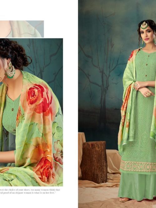 Georgette With Lucknavi Embroidery Suit D.No 2006