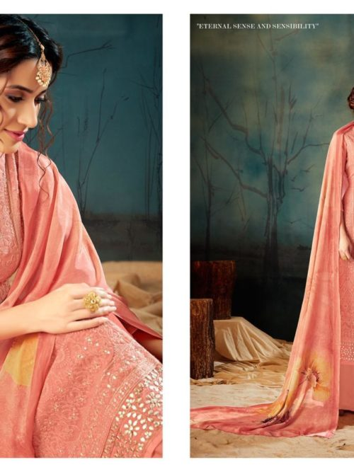 Georgette With Lucknavi Embroidery Suit D.No 2002