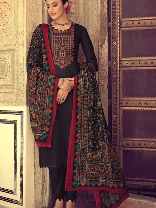 Mumtaz-Arts-Presents-Saanjh-Pure-Jam-Satin-Digital-Print-With-Kashmiri-Embroidery-Salwar-Suit-3001