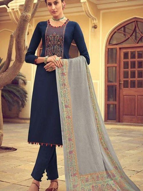 Mumtaz-Arts-Presents-Saanjh-Pure-Jam-Satin-Digital-Print-With-Kashmiri-Embroidery-Salwar-Suit-3007