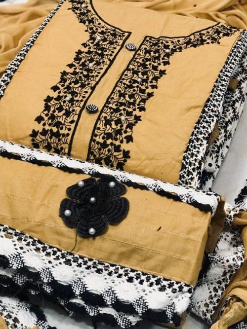 Pure Cotton WIth Lakhnavi Work Salwar Suit