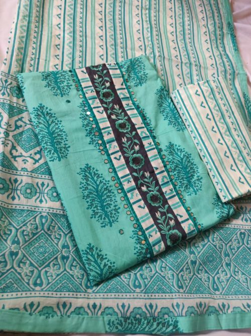 Pure Cotton Block Print Salwar Suit