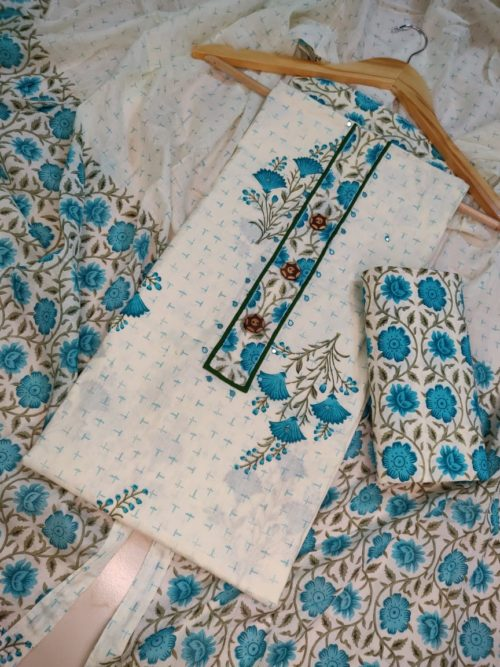 pure cotton floral print salwar suit
