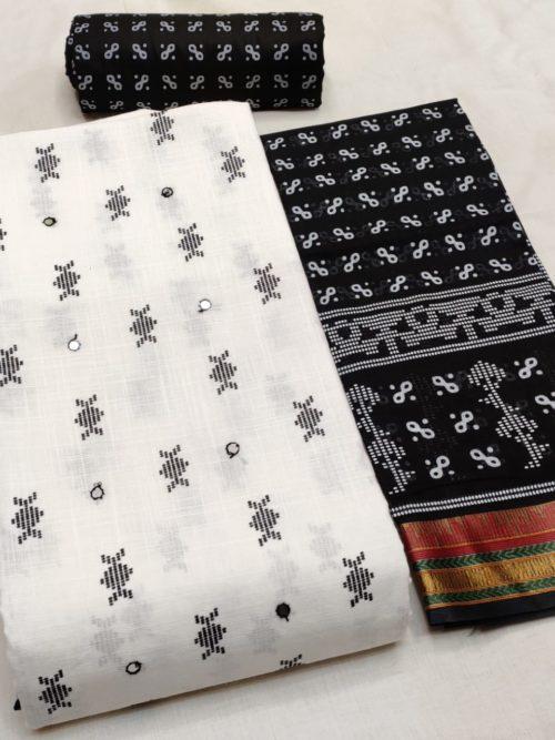 cotton block print salwar suit