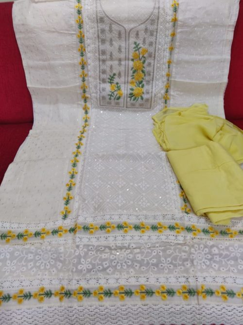 Pure cotton with embroidery salwar suit