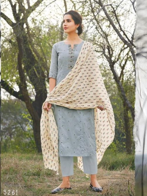 Jay Vijay Hiraya Pure Cotton Suit D.No 5261