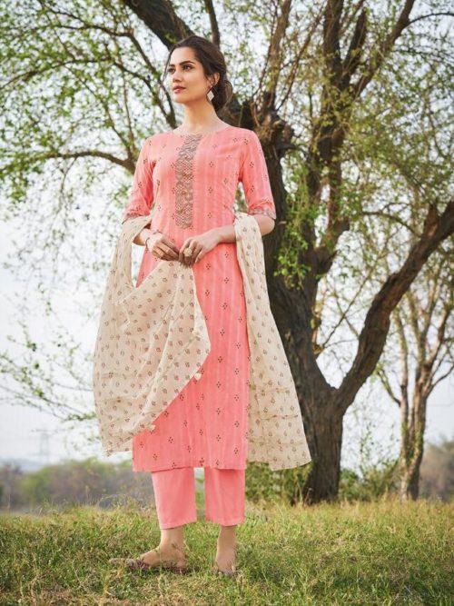 Jay Vijay Hiraya Pure Cotton Suit D.No 5262