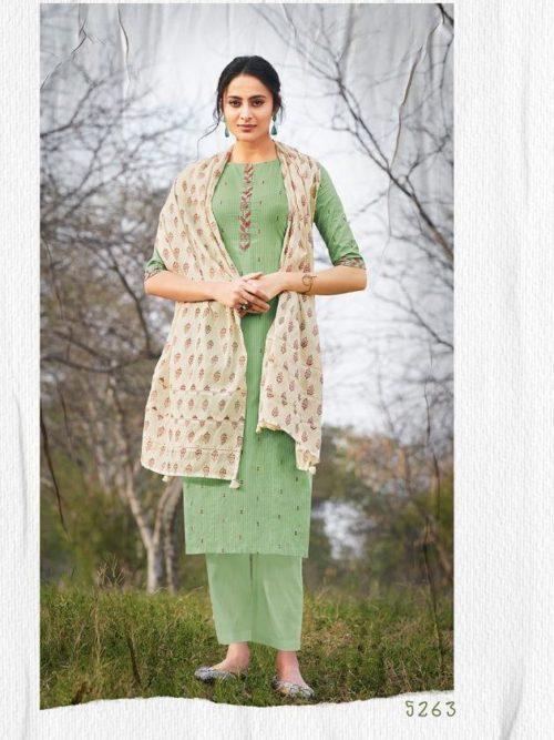 Jay Vijay Hiraya Pure Cotton Suit D.No 5263