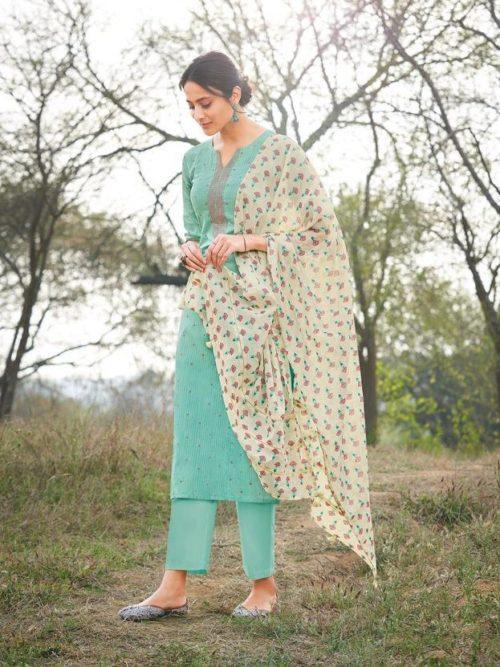 Jay Vijay Hiraya Pure Cotton Suit D.No 5264