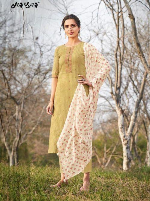 Jay Vijay Hiraya Pure Cotton Suit D.No 5265