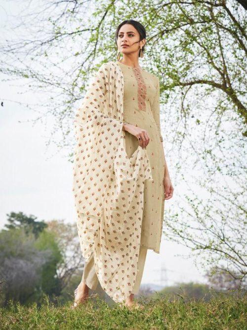 Jay Vijay Hiraya Pure Cotton Suit D.No 5266