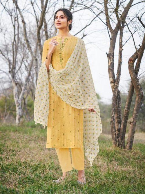 Jay Vijay Hiraya Pure Cotton Suit D.No 5267
