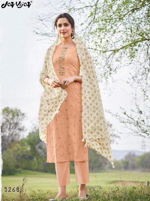 Jay Vijay Hiraya Pure Cotton Suit D.No 5268