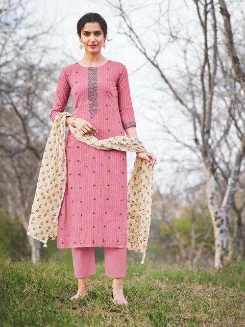 Jay Vijay Hiraya Pure Cotton Suit D.No 5269