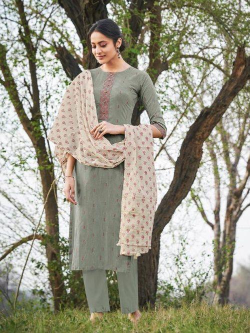 Jay Vijay Hiraya Pure Cotton Suit D.No 5270
