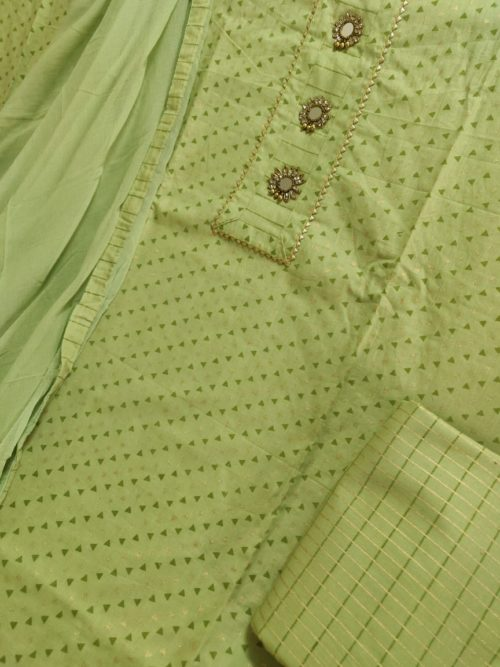 Cotton Print With Designer Buttons & Work Suit