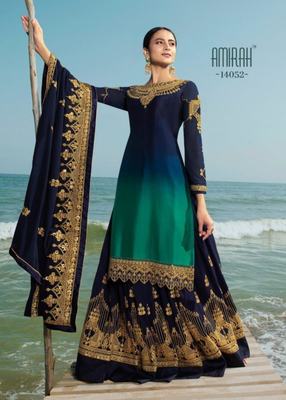 Embroidered Faux Georgette Indian Dupatta