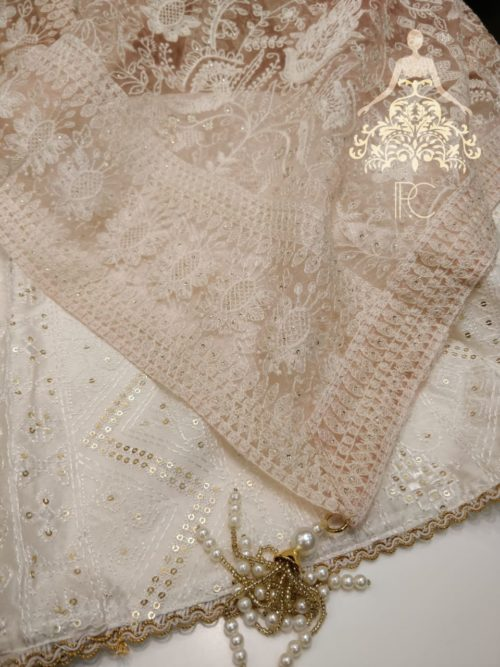 Full Embroidered Chanderi Suit with Sequins Work