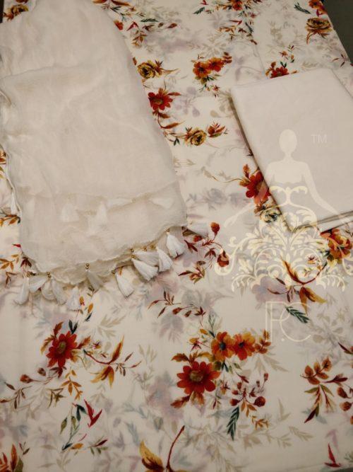 Printed Cotton Salwar Suit - Non Catalog