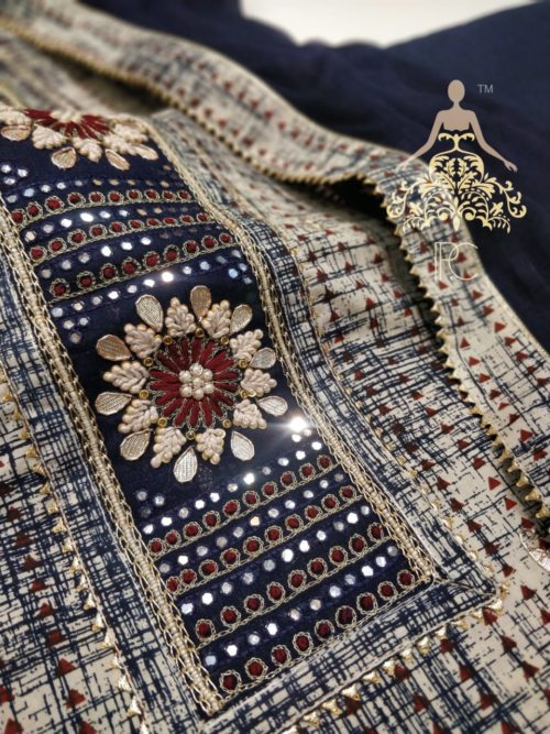 Cotton Embroiderd Suit with Gota Patti Work