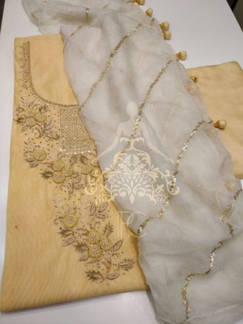 Embroidered Chanderi Suit - Non Catalog