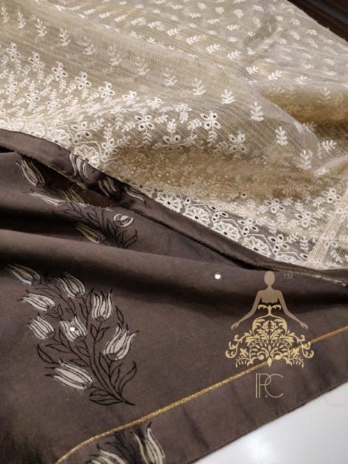 Printed Muzlin Silk Suit - Non Catalog