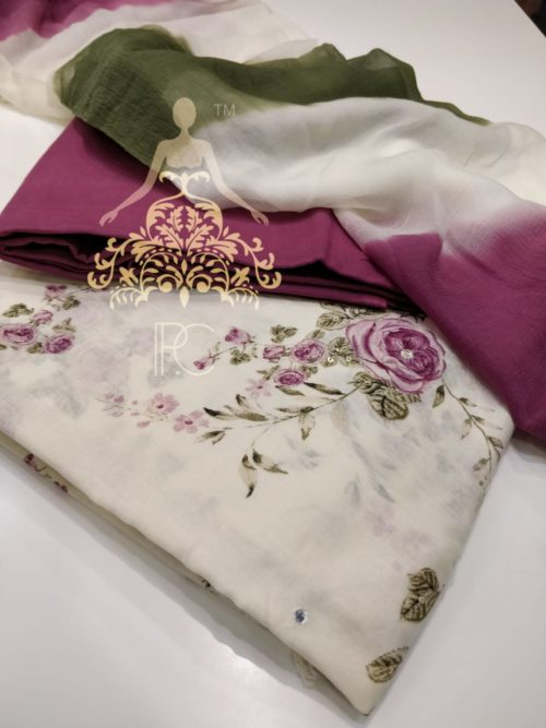 Cotton Printed Salwar Suit - Non Catalog