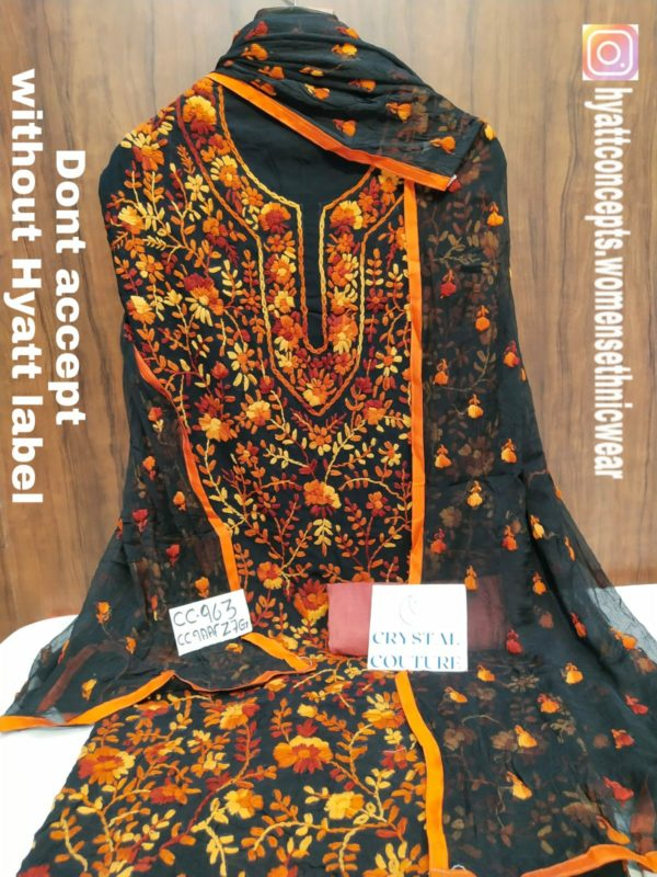 Fine Georgette With Handcrafted Embroidery Suit