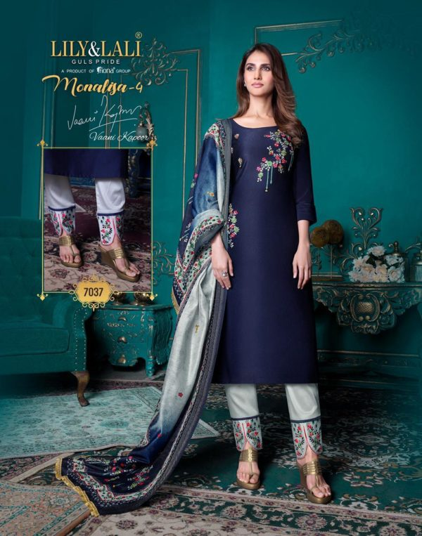 Bemberg Silk Fabric with Embroidery Work