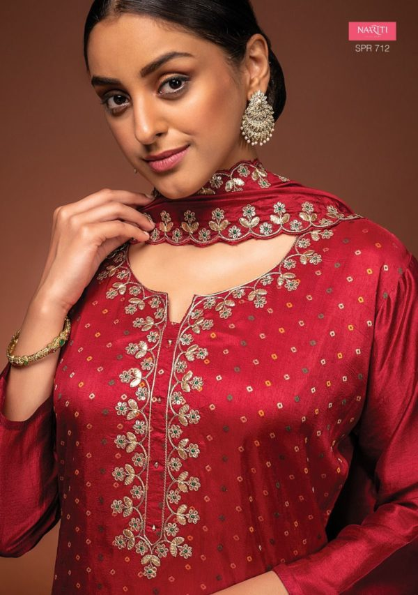 Russian Silk With Gota Work Suit